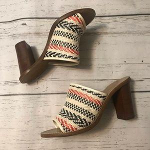 J. Crew Marlow Fabric Mule Sandal Multicolor Knit
